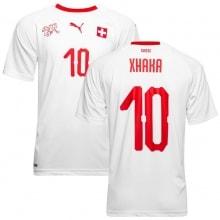 Гостевая футболка Швейцарии на ЧМ 2018 Гранит Джака номер 10