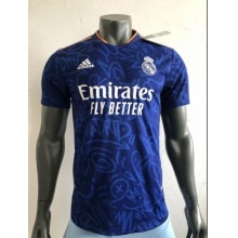 Гостевая аутентичная футболка Реал Мадрид 2021-2022