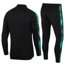 Черно-зеленый костюм Барселоны 2021-2022 сзади