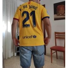 Гостевая футболка Барселоны 2019-2020 Фрэнки Де Йонг