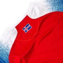 Красная вратарская футболка сборной Исландии на чемпионат мира 2018 сзади