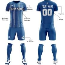 Футбольная форма синего цвета косые линии на заказ