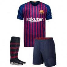 Взрослая домашняя футбольная форма Барселона 2018-2019 футболка, шорты и гетры