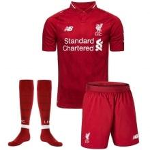 Комплект взрослой домашней формы Ливерпуля 2018-2019 футболка шорты и гетры