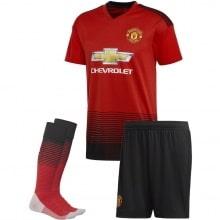 Детская домашняя форма Манчестер Юнайтед 2018-2019 футболка шорты и гетры