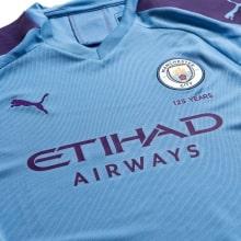 Детская домашняя форма Манчестер Сити 2019-2020 футболка титульный спонсор