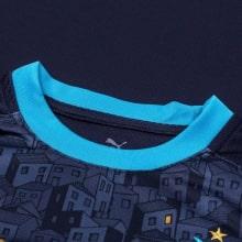 Гостевая игровая футболка Марселя 2020-2021 воротник