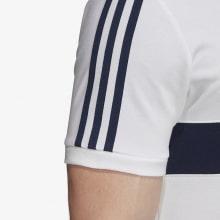 Футболка поло Реал Мадрид бело-синяя 2019-2020 рукав