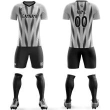 Футбольная форма черно серого цвета стрелочки на заказ