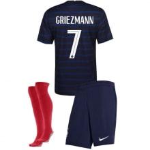 Детская домашняя форма Франции Мбаппе на ЕВРО 2020-21