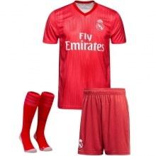 Взрослый комплект третьей формы Реал Мадрид 2018-2019 футболка шорты и гетры
