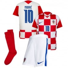 Детская домашняя форма Хорватии Модрич ЕВРО 2020-21