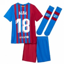 Детская домашняя футбольная форма Альба 2021-2022