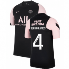 Черно-розовая футболка SERGIO RAMOS ПСЖ 2021-2022
