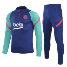 Сине-голубой спортивный костюм Барселоны 2021-2022