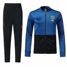 Взрослый черно-синий костюм Ман Юнайтед 2018-2019