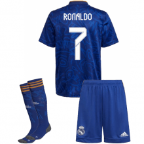 Детская гостевая футбольная форма Роналду 2021-2022