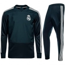 Взрослый темно-зеленый костюм Реал Мадрид 18-19 кофта и штаны