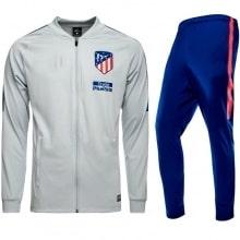 Взрослый серо-синий костюм Атлетико Мадрид 18-19 кофта и штаны