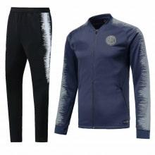 Взрослый черно-синий костюм Интера 18-19