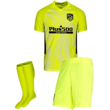 Комплект детской третьей формы Атлетико 2020-2021 футболка шорыт и гетры