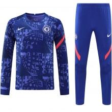 Синий тренировочный костюм Челси 2021-2022