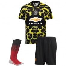 Взрослая леопардовая форма Манчестер Юнайтед 18-19 футболка шорты и гетры