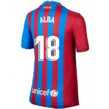 Домашняя футболка Барселоны 2021-2022 Альба