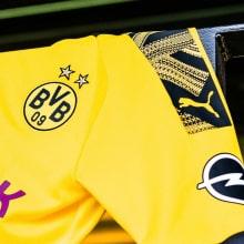 Комплект взрослой домашней формы Боруссии Дортмунд 2019-2020 футболка рукав