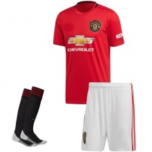 Детская домашняя форма Манчестер Юнайтед 2019-2020 футболка шорты и гетры