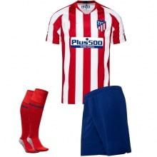 Взрослый комплект домашней формы Атлетико 2019-2020 футболка шорты и гетры