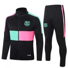 Черно-розово-бирюзовый костюм Барселоны 2020-2021