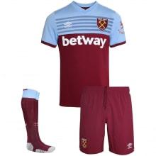 Комплект детской домашней формы Вест Хэм 2019-2020 футболка шорты и гетры