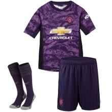 Детская вратарская форма Манчестер Юнайтед 2019-2020 футболка шорты и гетры