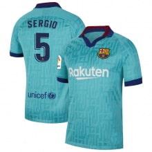 Третья футболка Барселоны 2019-2020 Серхио Бускетс номер 5