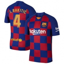 Домашняя футболка Барселоны 2019-2020 Иван Ракитич номер 4