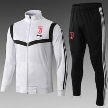 Детский черно-белый тренировочный костюм Ювентуса 2019-2020