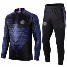 Взрослый черно-синий тренировочный костюм ПСЖ JORDAN 19-20