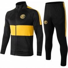 Взрослый черно-желтый тренировочный костюм Интера 19-20