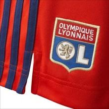 Комплект взрослой гостевой формы Лион 2021-2022 шорты логотип