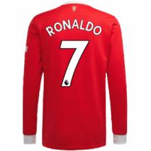 Домашняя форма Ман Юнайтед 21-22 Роналду с длинными рукавами футболка сзади