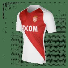 Домашняя игровая футболка Монако 2018-2019 сбоку