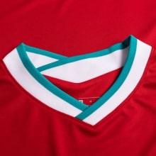 Детская домашняя футбольная форма Салах 2020-2021 футболка воротник