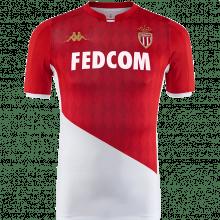 Комплект детской домашней формы Монако 2019-2020 футболка спереди