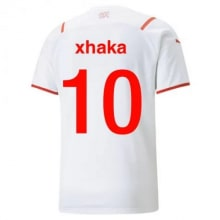 Гостевая футболка Швейцарии на ЕВРО 20-21 Гранит Джака