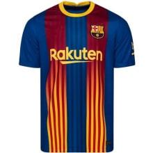 Комплект взрослой четвертой формы Барселоны 2020-2021 футболка