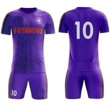 Футбольная форма фиолетовая дизайн Ливерпуля 18-19 на заказ