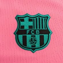 Третья аутентичная футболка Барселоны 2020-2021 герб клуба