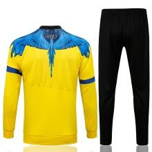 Желто-черный спортинвый костюм Наполи 2021-2022 сзади