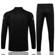 Черно-фиолетовый костюм Барселоны 2021-2022 сзади